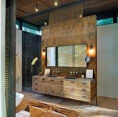 Bathroom Rustic Modern Ideas Inspiration with Wood Wall Panel