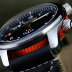 Bremont MB - diggin the use of color and knurling here