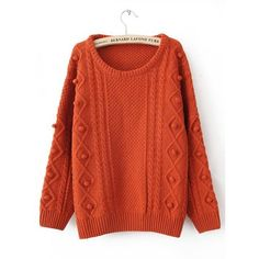 Twist Round Neck Red Sweater$50.00 ($50) ❤ liked on Polyvore