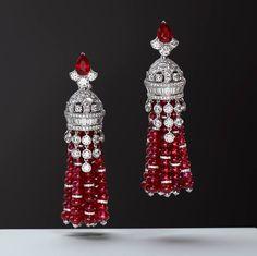 Ravishing rubies… #GraffDiamonds' distinctly feminine and dynamic tassel earrings showcase the very best of its atelier's mastery