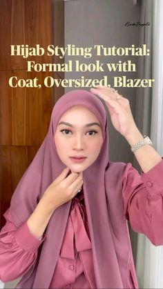 Modern Hijab Fashion, Hijab Fashion Inspiration, Muslim Fashion, Simple Hijab Tutorial, Hijab Style Tutorial, Kebaya Hijab, Hijab Dress, Stylish Hijab, Casual Hijab Outfit