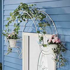 over door arch style trellis - Google Search