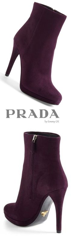 Emmy DE * Prada Mid Suede Boot ♡†♡ icycouture00 ♡†♡