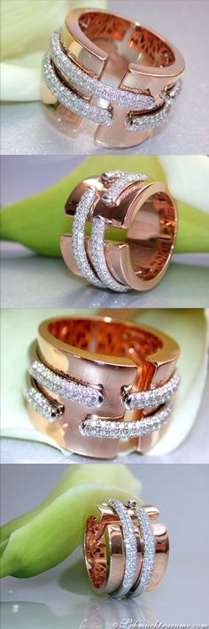 Terrific Diamond Ring, 1,05 ct.g-vsi RG18K - LBV