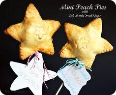 Mini Peach Pies with Del Monte Fruit Cups #SmartSnack #Cbias