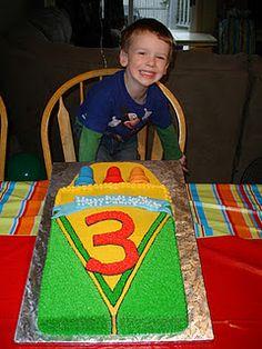 """Crayon Birthday Cake... Ice Cream Cones as Crayon """"tops""""!!"""