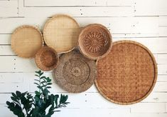 Your place to buy and sell all things handmade Farmhouse Baskets, Farmhouse Decor, Modern Farmhouse, Farmhouse Style, Home Crafts, Diy Home Decor, Baskets On Wall, Wicker Baskets, Picnic Baskets