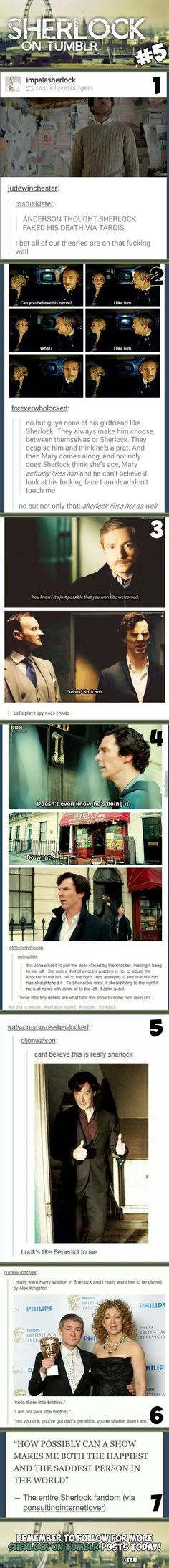 Of course Sherlock noticed the knocker, because he's Sherlock, but the fact that he actually cares......