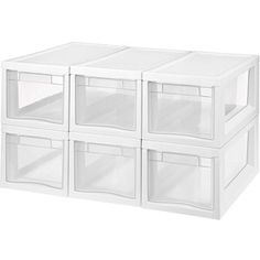 Sterilite Narrow Modular Storage Drawers, Set of 6 (would be good for food/cooking stuff)