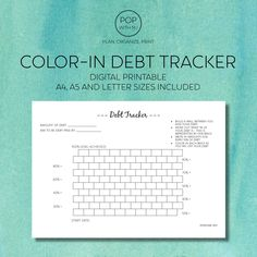 Brick Wall Color in Debt Tracker Printable created by POPwithMJ Build a wall between you and your debt with this simple, minimalist planner. Colour in a brick for each you pay off - a row of bricks represents of your debt. Bullet Journal Key Examples, Printable Planner, Printables, Debt Tracker, Print Place, Student Loan Debt, Planning And Organizing, Printer Paper, Debt Payoff