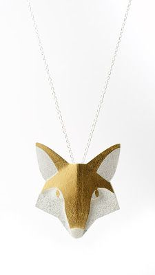 Renard Fox by Karine Rodrigue Gold Ornaments, Gold Foil, Fox, Pure Products, Jewellery, Illustration, Silver, Collection, American Black Bear