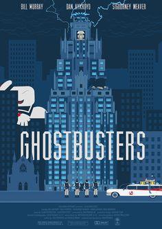Ghostbusters Alternative Movie Cover Artwork Minimalist Poster Print Wall Decor…