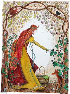 "Autumn Equinox:  ""Autumn's Bounty,"" by Ruthie Redden. #Autumn #Equinox. used"