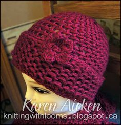 Knitting With Looms: Red Hat