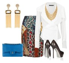 Estilo Glam by outfits-de-moda2 on Polyvore featuring moda, Donna Karan, Lavish Alice, Sergio Rossi, Lele Sadoughi and Chanel