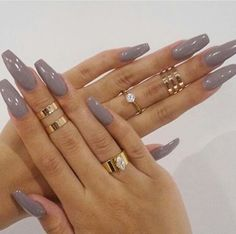 pinterest: @insidemimente #nails #grey
