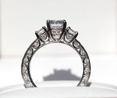 VINTAGE style Semi Mount  115 carat Round  by BeautifulPetra, $3,500.00