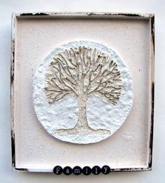 Mixed Media Family Tree Shadow Box Assemblage by Studiomoonny
