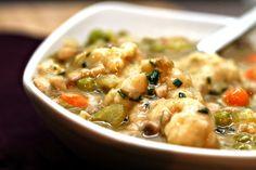 Vegetarian Chicken & Dumplings - this sounds delicious.