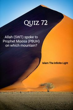 Islamic Quiz Question : Allah Subhanahu wa Ta'ala spoke to Prophet Moosa (Peace be upon Him) on which mountain as mentioned in Quran? Quiz With Answers, Quiz Questions And Answers, Question And Answer, This Or That Questions, General Knowledge Test, Positive Quotes Success, Quran Surah, Peace Be Upon Him, Ramadan