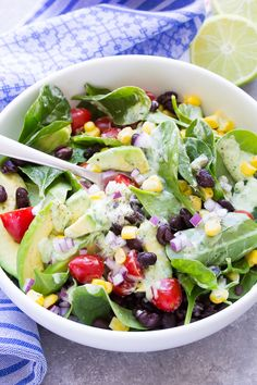 All Things Savory: Southwest Spinach Salad - Recipe Girl