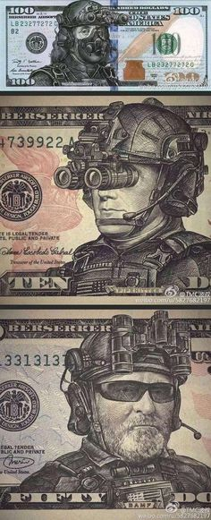 With all the money the U.S. spends on military you'd think we'd have soldiers on our currency.