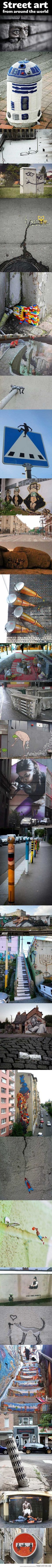 Street art from around the world…when you feel like there's no imagination, no humour, no laughter, no cleverness, no soul...it's everywhere.