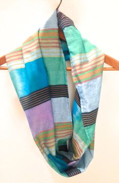 Multicolored Infinity Scarf / Spring Scarf by SandySeaTurtle