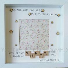 Personalised keepsake box frame Aunt Aunty Auntie gift birthday Christmas