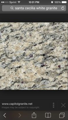 Santa Cecelia Light - the granite selection for the new house