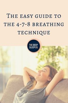 Do you have trouble quietening your mind at night to get to sleep? The 4-7-8 breathing technique is an easy yet effective method of calming your body and mind for sleep. If practiced regularly, this method can lull you to sleep in just one minute.  #sleep