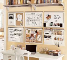 I like this wall, place for key items, calendar and to-do list right in front of you