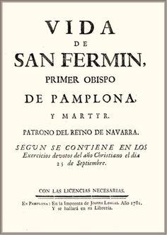 """J. Croiset. """"Vida de San Fermín : primer obispo de Pamplona"""" (Pamplona, 1781)"""