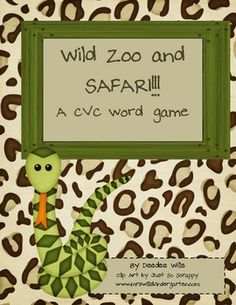 Come visit the wild animals in the zoo with this adorable literacy station. 72 CVC word cards that are easily decodable for your emergent readers a...