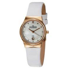 Skagen Women's Goldtone Crystal-accented Glitz Watch