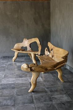 Teak Root Bench made by Blaxsand