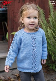 47 Ideas Knitting For Kids Cardigans Baby Outfits, Kids Outfits, Kids Knitting Patterns, Knitting For Kids, Girls Sweaters, Baby Sweaters, Beginner Knit Scarf, Baby Pullover, Girl With Hat