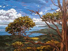"""Renee Hartig: """"Madrona Tree"""", Oil on Canvas, 30in x 40in"""