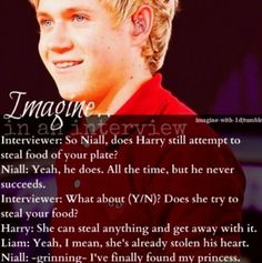 Harry Niall imagine aww that's so sweet I hope he finds his princess