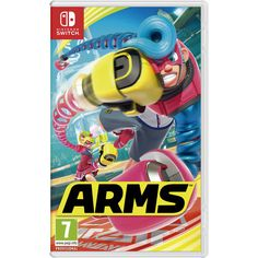 Arms - Nintendo Gaming Poster/Print (Game Cover/Key Art) (Size: 24 inches x 36 inches) (Black Poster Hanger) Gaming Posters, Cool Posters, Beast Boy, Super Smash Bros, Super Mario Bros, Arms Nintendo Switch, Splatoon 2 Switch, Arms Switch, Black Poster