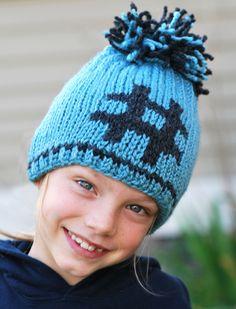 Hashtag Hat - knitting loom - free pattern