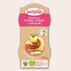 Ecrasé de Fruits - Ecrasé de Pomme, Fraise & Banane - dès 8 mois - Produit en France - Babybio