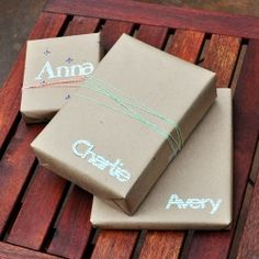 Another gift simple wrapping idea.