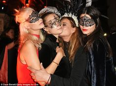 Fashion friends: The trio spent time making birthday girl Eva feel very special indeed