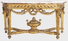 Louis XVI console in verguld hout