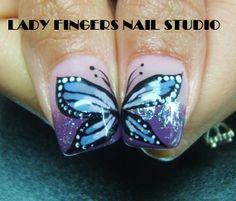 #nail #nails #nailart #nailporn #nailideas #naildesign #trendynails #gelnails #gelpolish #nailpolish #art #gelmanicure #manicure #butterflies #springnails #purple #glitter #handpaintednailart #dots #sexynails #squarenails