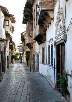 Street scenes in the kaleiçi, old quarter of Antalya, Turkey