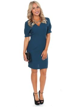 The Key To Success Dress Teal $19.50