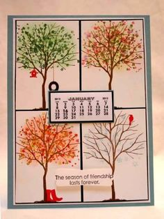 IC317 Four Seasons Calendar by sleepyinseattle - Cards and Paper Crafts at Splitcoaststampers