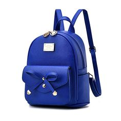 e2a4c2b90c Cute Backpack Purse For Women Girls PU Leather Mini Travel Daypack Casual  Blue - Handbag For Girls